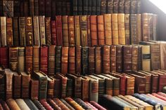 Nothing like old leather-bound books: read, collect, decorate with, share :-)