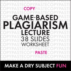 A plagiarism lesson and lecture on Teachers Pay Teachers that is presented in a game like manner working to educate students on the seriousness of plagiarism Teaching Writing, Teaching Strategies, Teaching Tools, Essay Writing, Teaching English, Teaching Resources, Teaching Ideas, Report Writing, Persuasive Essays