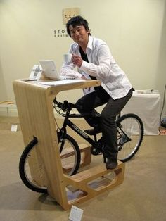 Table That Doubles As Bike Stand Could Do Yet More : TreeHugger