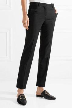 Testra Wool-blend Crepe Slim-leg Pants - Navy Theory A7u8fSRhX