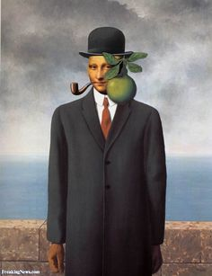 Mona Lisa in a Magritte Painting