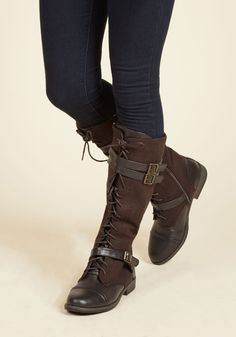 Boots & Booties - Band at Attention Boot in Brown