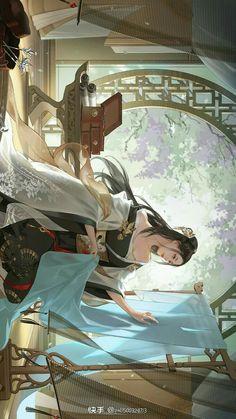 Fantasy Art Men, Beautiful Fantasy Art, Fantasy Girl, Chinese Art, Chinese Drawings, Korean Illustration, Anime Characters, Fantasy Characters, Magical Girl