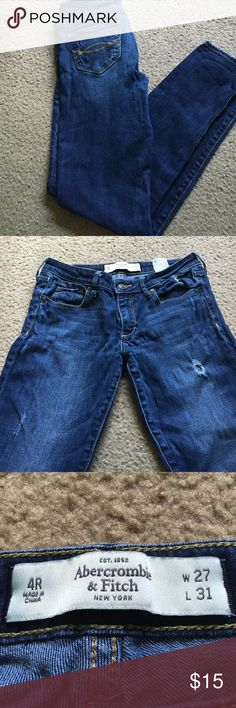 Abercrombie and Fitch skinny jeans Destroyed medium wash Abercrombie skinny jeans Abercrombie & Fitch Jeans Skinny