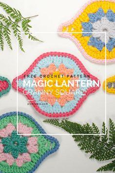 free crochet pattern magic lantern granny square picotpals.com