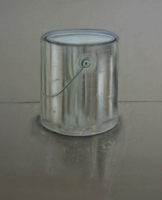 Drawing class:Reflective Surface: Paint Cans. Drawing excersizes