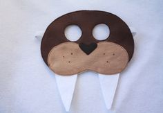 SALE- Walrus Mask- Mask of the Month-CHILD. $11.00, via Etsy.