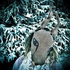 @crookedcrowmasks posted to Instagram: All weather rabbits. #whiterabbit #downtherabbithole #folkart #outsiderart #masks #props #snow #wicked #creepy #crookedcrowmasks photo by #vagabond_epicure Animal Heads, Outsider Art, Rabbits, Crow, Folk Art, Creepy, Wicked, Masks, Weather