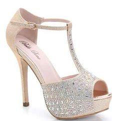 New Women's Fashion Diamond Glitter Sexy High Heel Stilettos Platform Pumps Shoe