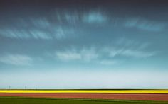 Abstract Landscape Photograph - Normandy Fields by Dave Bowman
