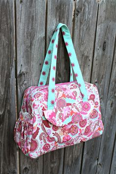 Aragon Bag by Sew Sweetness using Tula Pink Fox Field fabric  I WISH this was available to buy. this is our baby theme and would fit EVERYTHING! :(