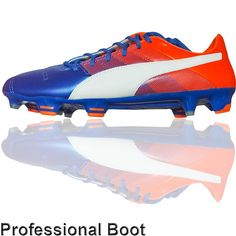 afa97491d0b4 Puma Evopower 1.3 Leather Boots (FG - Blue White Orange). Football Shoes ...