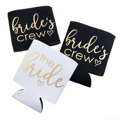 """Our """"bride's crew"""" koozies are perfect for the bachelorette party, bridal…"""