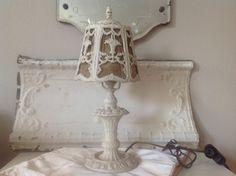 Beautiful barbola antique white boudoir by FarmhouseMemories
