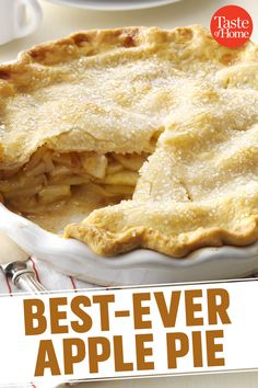 "apple pie I remember coming home sullen one day because we'd lost a softball game. Grandma, in her wisdom, suggested, ""Maybe a slice of my homemade apple pie will make you feel better. Apple Pie Recipe Easy, Homemade Apple Pie Filling, Apple Pie Recipes, Homemade Pie, Taste Of Home Apple Pie Recipe, Apple Pie Bars, Mini Apple Pies, Best Ever Apple Pie, Tarte Fine"