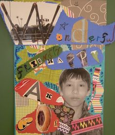 WHAT'S HAPPENING IN THE ART ROOM??: 5th Grade Portrait Collage