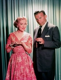 Gracie Allen & George Burns. Classic working husband & wife duo. I watch their  show on Antenna TV and marvel at how they break the 4th wall...