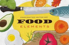 Food Elements Illustration - Illustrations