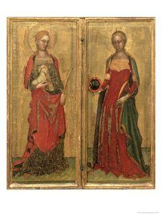 St Agnes and St Domitilla by Andrea de Bonaiuto (1343-1377)