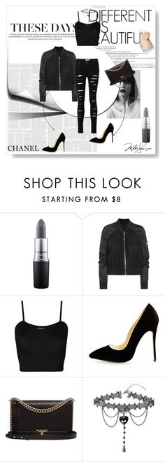 """""""Untitled #108"""" by marshaagitta ❤ liked on Polyvore featuring MAC Cosmetics, Rick Owens, Chanel and WearAll"""