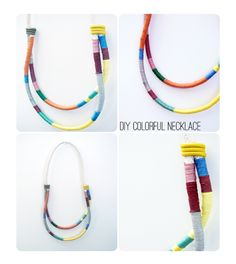 Lemon Jitters: DIY: Colorful Necklace