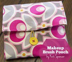 Makeup Brush Pouch/Roll   DIY
