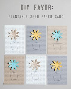 DIY plantable seed paper favors from Something Turquoise