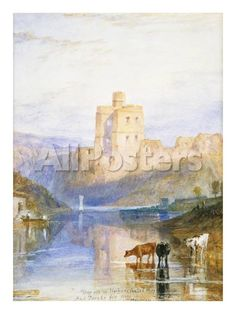 Norham Castle: an Illustration to Sir Walter Scott's Marmion, 1818 by Donald C. Mackay Landscapes Giclee Print - 46 x 61 cm