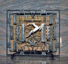 art deco screen I made in iron, design by Edgar Brandt
