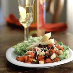 A zesty salsa-like mixture of tomato, kalamata olives, and hearts of palm flavors this salad. Hearts of palm, which taste similar to...