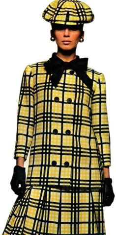 Heim Long Jacket and Box-Pleated Skirt  1966
