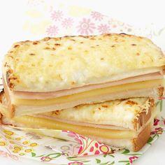 Découvrez la recette Croque monsieur à la béchamel sur cuisineactuelle.fr.