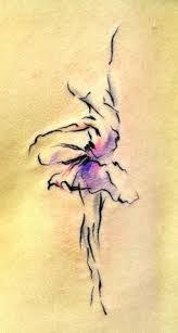 watercolor dancer tattoo - Google Search