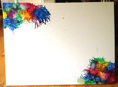 Crayon Art - I wanna do this and then write a quote or word right in the middle. Melted Crayon Crafts, Crayon Art, Diy Projects To Try, Craft Projects, Craft Ideas, Diy Crafts For Gifts, Arts And Crafts, Homemade Bath Bombs, Art Journal Techniques