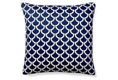 One Kings Lane - Refresh Your Palette - Sotas 20x20 Cotton Pillow, Navy