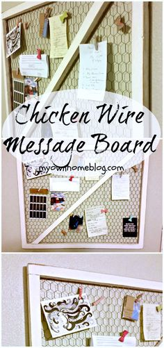 Chicken Wire Message Board Makeover - My Own Home