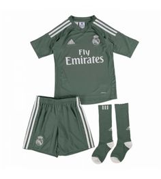 Real Madrid Adidas Home Goalkeeper Mini Kit Real Madrid, Gareth Bale, Goalkeeper, Ronaldo, Gym Men, Adidas Jacket, 18th, Trunks, Gym Shorts Womens