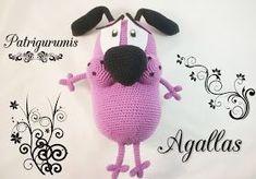 Amigurumis Perros Paso A Paso : Agallas el perro cobarde amigurumi lana fieltro guata amigurumi