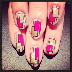graphical square nail  (NailSalon AVARICE)