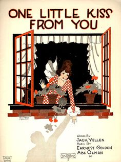 """Vintage Sheet music- """"One Little Kiss From You"""""""