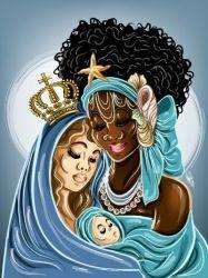 Iemanja e Ns da Gloria by OradiaNCPorciuncula on DeviantArt Oshun Y Yemaya, African Mythology, Black Love Art, Black Anime Characters, Black Goddess, World Of Darkness, Black Artwork, Mermaid Art, Fairy Art