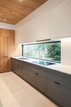 Grey Kitchen Designs, Kitchen Room Design, Modern Kitchen Design, Home Decor Kitchen, Interior Design Kitchen, Modern Grey Kitchen, Rustic Kitchen, Küchen Design, Layout Design