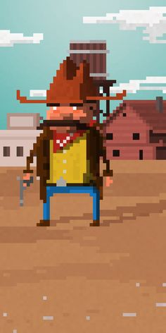 Playing with pixel character design.