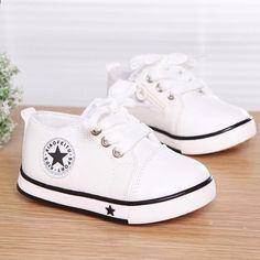 2017 Nem Summer Spring Canvas Scarpe per bambini Star Fashion Sneakers  Bambini Lace-up Scarpe casual per ragazze Boys Black Withe rosso 5f9ea29a2a7