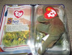 TY Beanie Baby   STEG the Stegosaurus McDonald s Promotional TY Teenie Baby   Ty b0eff7d530b0