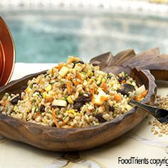 Apple Barley Salad Recipe on recipe on .not a fan of the dressing. How To Cook Barley, How To Cook Quinoa, Cooking Barley, Apple Recipes, Vegan Recipes, Cooking Recipes, Barley Recipes, Cooking Bacon, Cooking Games