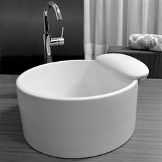 Ceramic vessel pedicure sink.