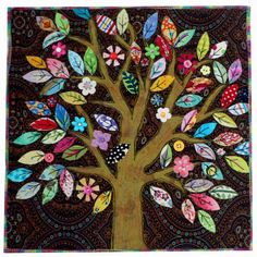 Ok- you know I love trees in my art quilts!  I want to make this now!  Maybe tomorrow!