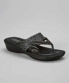 Look at this #zulilyfind! Black Braided Sandal by Nichole Simpson #zulilyfinds