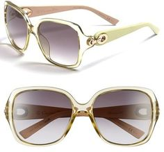 Dior Christian Dior 57mm Sunglasses #dior #sunglasses #gold #green #yellow #fashion